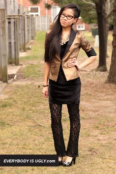 DIY Flared Lace Leggings