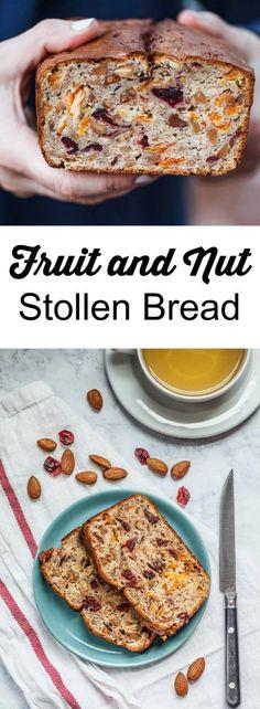 fruit and nut Stollen bread {gluten-free}