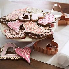 Heart Cookies and Copper Cookie Cutters