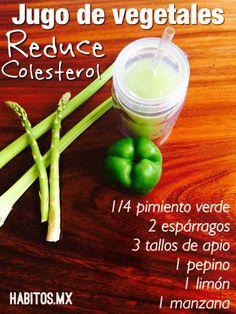 Jugo de vegetales: Reduce colesterol. #hábitosmx #health #salud