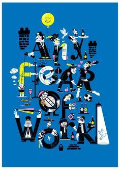 poertas: Las ilustraciones tipográficas de Alec Doherty