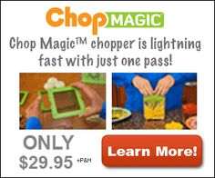 Chop Magic is lightening fast and cuts food fast with just one pass. #chopmagic