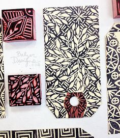 from the Balzer Designs Blog: More Garbage Stamps balzerdesigns.typepad.com (Carved stamps by Julie) *****