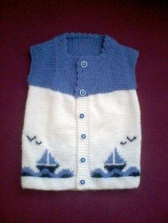 Ravelry: Argyle Vest Pattern By Patons - maallure Baby Cardigan, Baby Boy Vest, Baby Pullover, Baby Scarf, Knit Vest, Knitting For Kids, Baby Knitting Patterns, Knitting Designs, Baby Patterns