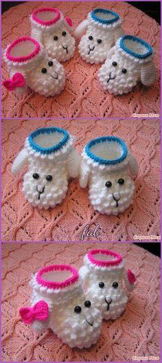 New Hat Crochet Bobble Ideas Baby Girl Crochet, Crochet Baby Shoes, Crochet Baby Clothes, Crochet For Kids, Crochet Bobble, Crochet Yarn, Booties Crochet, Crochet Slippers, Men's Slippers