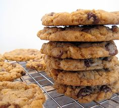 Chocolate chip cookies with Rice Krispies, instead of nuts.  AMAZING!!  From the book, Mom's Big Book of Cookies by Lauren Chattman.