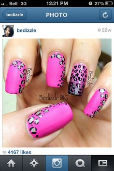 Flat gloss and leopard print love it!