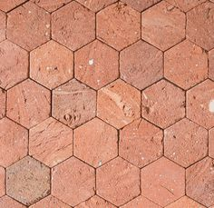 Academy Tiles - Ceramic Mosaic - Terracotta Hexagon Mosaics 45 x 50mm - 84044