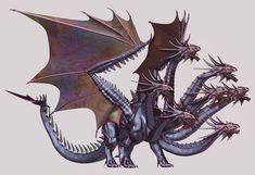 Looks like a hydra, but it has dragon wings! Dragon / Hydra hybrid, SO COOL!