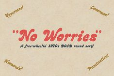 NO WORRIES • Retro Font Roundup • Little Gold Pixel • #psychedelic #groovy #hippie #retro #typography #type #typeface #fonts #graphicdesign #1970s #1960s Retro Font, Retro Typography, Groovy Font, Web Design, Graphic Design, All Fonts, Free 70s Fonts, Crazy Fonts, Yellow