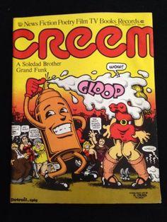 Creem Magazine Rare 1971 Issue Grand Funk R. Robert Crumb Cover Vintage