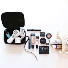 Travel Tip:    After carefully wrapping all your beauty items (and packing them in plastic bags, as needed), place your beauty products in the middle of your suitcase to cushion them and avoid breakage.