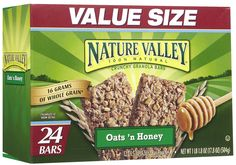 Nature Valley Oats 'N Honey, Value Pack, 0.74 oz, 24 ct - $6.49 for 12 pks