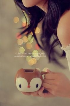 bokeh and cute mug