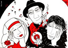 Fabrizio e Don Gallo visti da Gina Tondo, «Via del campo» , «Buon compleanno Faber 2014» , acrilico su tela Anime, Tela, Cartoon Movies, Anime Music, Animation, Anime Shows