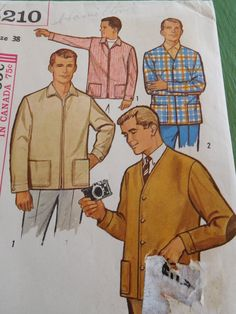 Vintage 60's Butterick 5210 Sewing Pattern Men's by OhPatterns