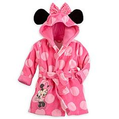 Disney Minnie Mouse Bath Robe for Baby - Personalizable | Disney StoreMinnie Mouse Bath Robe for Baby - Personalizable - The perfect after-bath wrap, our mouse-eared Minnie robe will suit your little bathing beauty perfectly. Pull up Minnie's happy hood and tie the attached belt in front to nestle her in the snuggly terry cloth interior!