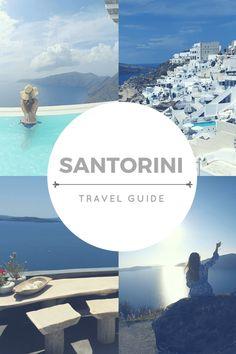 Santorini Travel Guide  Greece | Santorini | Oía | Fira | Island | Greek | Wine | Sunset | Caldera | Catamaran Cruise | Sailing
