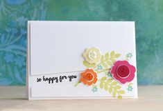 So Happy For You Card by Laura Bassen for Papertrey Ink (March 2015)