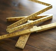 Need to look for this at flea market and garage sales - wooden folding rulers VINTAGE