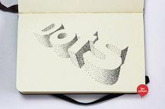 dreidimensionale Typografie von Lex Wilson