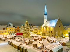 Market in Tallin, Estonia  Christmas Traveling: 15 Of the Most Beautiful Christmas Markets in Europe