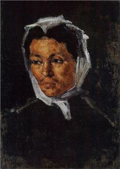 Paul Cezanne (French: 1839 - 1906) - The Artist's Mother (1867)