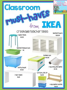 Classroom Must-Haves from IKEA   Creekside Teacher Tales