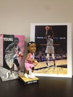 """Autographed 8""""x10"""" photo of Sophia Young and a Sophia Young bobble head. Bid now to support Silver & Black Give Back! (ends 7/23 @ 11pm)"""