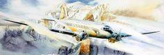 """Philippe prend de l'altitude ... """"Dakota"""" Air France sur le toit du monde... #Art #Artiste"""