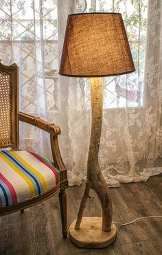 Black Friday/Cyber MondayEucalyptus Tree Lamp Rustic  by MarzaShop, $200.00