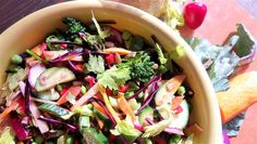 Rainbow Salad with Sherry Walnut Vinaigrette