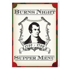 Scottish Celebration menu card, great for Burn's Suppers! Printed on thick 250gsm quality card, they come as a flat sheet (just under a4 in size) and can be folded in half. We recommend writing directly onto the menu card inside or printing a seperate paper insert to stick inside.