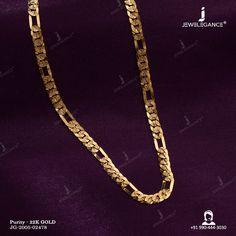 22k Plain Gold Chain (24.13 gms) - Plain Gold Jewellery for Men by Jewelegance (JG-2005-02478) #myjewelegance #chain #jewelleryformen #22caratgoldjewellery #jewellerystyle Gold Bangles Design, Gold Earrings Designs, Mens Gold Jewelry, Gold Jewellery, Gold Pendant, Pendant Jewelry, Necklaces, Bracelets, Designer Earrings