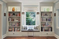 19 Trendy home library room awesome window seats Küchen Design, House Design, Interior Design, Design Ideas, Chair Design, Home Library Rooms, Window Benches, Window Seats, Room Window