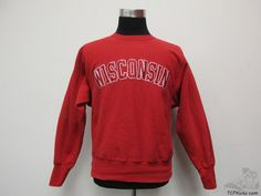 Champion REVERSE WEAVE Wisconsin Badgers Crewneck Sweatshirt sz M Medium SEWN #Champion #WisconsinBadgers