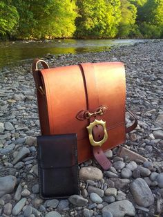 A hand stitched leather hand bag and phone case!