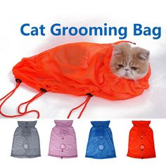 Multifunction Breathable Nylon Cat Grooming Bag Anti Bite Cat Washing bath Bag Size M/L Hot