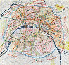 Paul Scher's map of Paris.