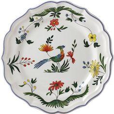 Gien Oiseaux De Paradis 8.75 Inch Dessert Plate Dimensions: N\A. Brand New - First Quality.  #GIEN #Kitchen
