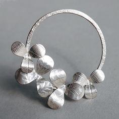 4 petal brooch | Contemporary Brooches by contemporary jewellery designer Naomi James