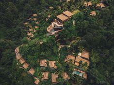 Luxury resort in forest ~ Nature Photos ~ Creative Market Bali Resort, Resort Villa, Forest Resort, Jungle Resort, Lund, Bungalow, Resort Plan, Plan Maestro, Forest Cottage