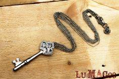 Antique Skeleton Key Necklace Vintage Reclaimed by LuMagoo
