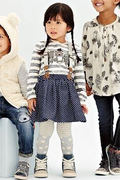 """Girls Clothing Online - 3 months to 6 years - """"Next Dress,Braces"""