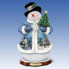 Thomas Kinkade 'Tis la estación a ser alegre Navidad Musical Muñeco: se ilumina!