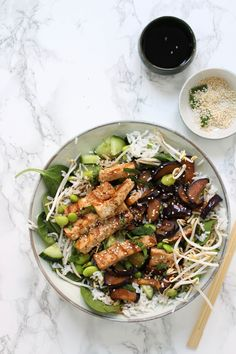 Veggie Recipes, Asian Recipes, Healthy Recipes, Ethnic Recipes, Healthy Diners, Gluten Free Cooking, Tempeh, Healthy Salads, Healthy Food