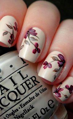 30 Best Inspirations Floral Nail Art Design #nailart
