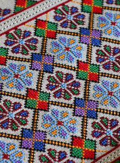 1 - Ukraine, from Iryna Folk Embroidery, Embroidery Patterns Free, Cross Stitch Embroidery, Embroidery Designs, Cross Stitch Borders, Cross Stitch Designs, Cross Stitching, Cross Stitch Patterns, Palestinian Embroidery