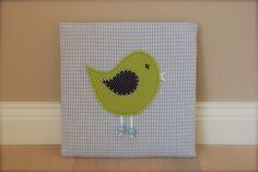Bilder - Bild Wandbild Vogel blau/grün - ein Designerstück von Schnubbelino bei DaWanda