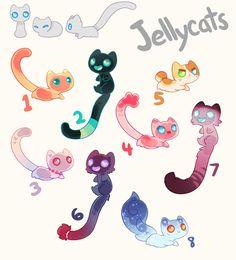 Cute Fantasy Creatures, Mythical Creatures Art, Cute Creatures, Cute Kawaii Animals, Cute Animal Drawings Kawaii, Cute Drawings, Creature Concept Art, Creature Design, Oc Pokemon